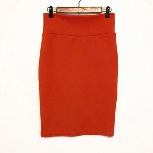 LAST CALL Lularoe Cassie Solid Pencil Skirt Orange
